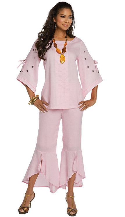 2pc Linen Tunic And Pant Set