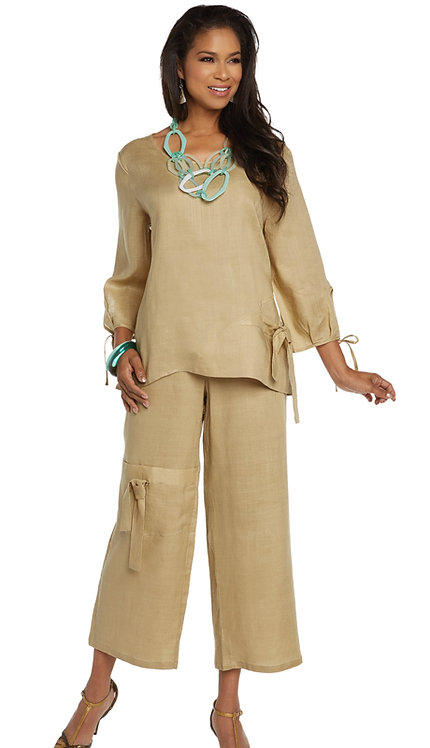 2pc Linen Tunic And Pant Set