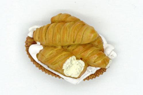 Cream Bread Fridge Magnet