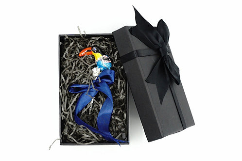 Taco Toucan On Silver Stone With Box