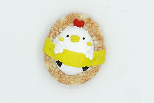 Chick Rice Ball Fridge Magnet