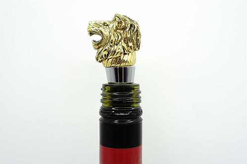 Golden Colour Lion Wine Stopper