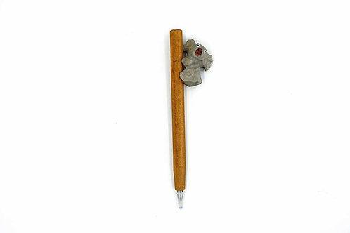 Handmade Wooden Pen Koala Shape