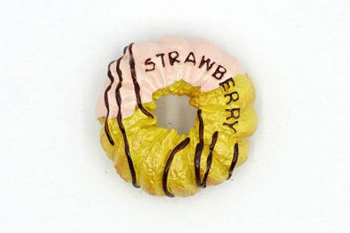Strawberry Donut Fridge Magnet