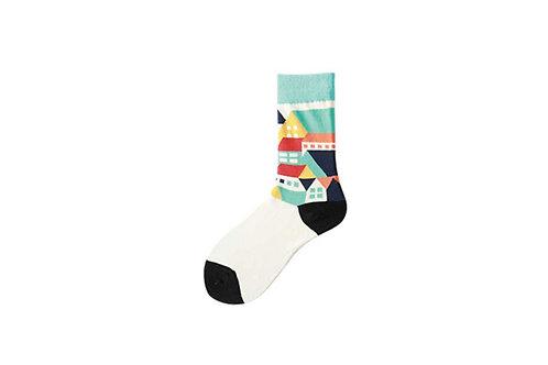 Crew Socks Small Town Pattern