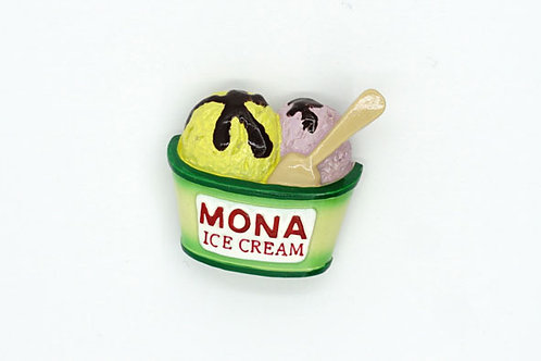 Mona Ice Cream Fridge Magnet