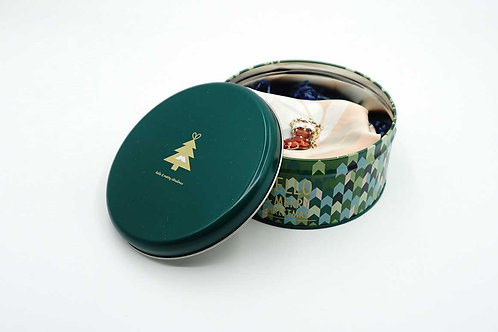 Artist Flower - Painting Effect Scarf & Xmax Sock Brooch in Tin Box