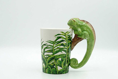 Lizard Shapped Handle Mug