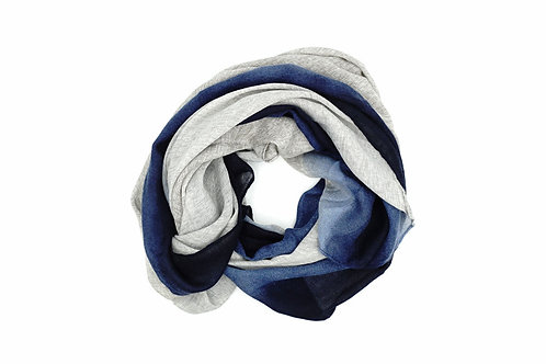 Elegant Atlantic Gradient Blue Scarf