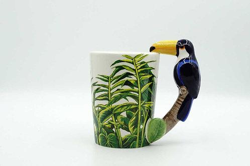 Toco Toucan Shaped Handle Mug