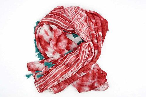 Spanish Design Scarf Tie-Dyeing Effect