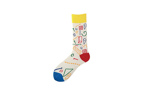 Crew Socks Geometric Pattern