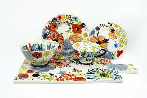 Luxury Hand Painting Floral Dinner Set