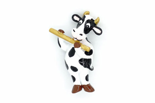 Cow Playing Flute Fridge Magnet