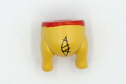 Pooh Bear Bottom Fridge Magnet