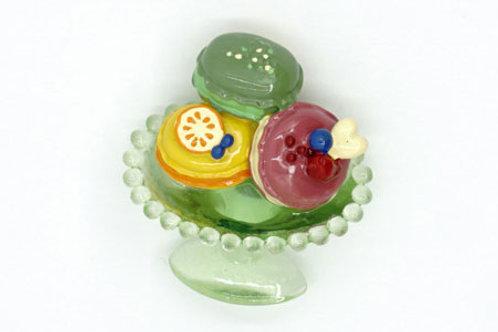 Pastry Plate Fridge Magnet