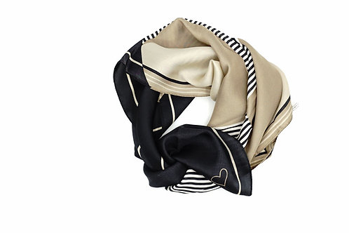 Mediterranean Striped Contrast-Colour scarf
