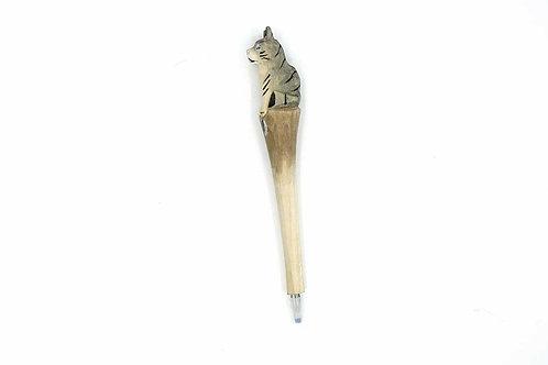 Handmade Wooden Pen Dog Shape
