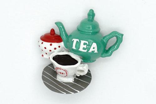 Tea Time Fridge Magnet