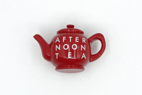 Red Tea Pot Fridge Magnet