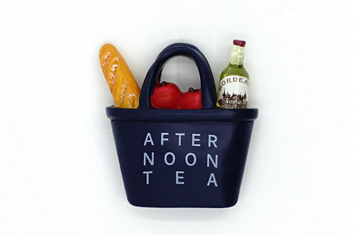 Afternoon Tea Basket Fridge Magnet
