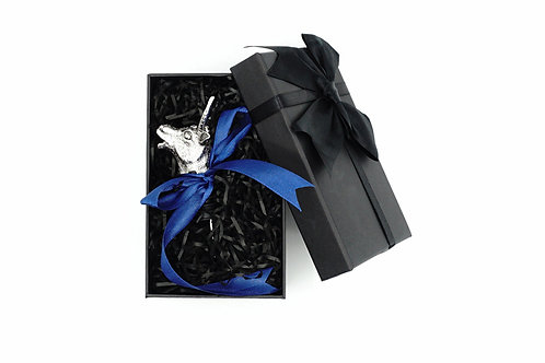 Silver Colour Bull Wine Pourer With Box