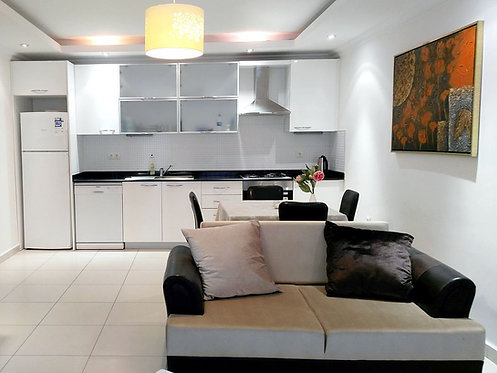 LIGHT AND SPACIOUS 2-ROOM APARTMENT IN ORION CITY/AVSALLAR (1+1 FOR SALE)