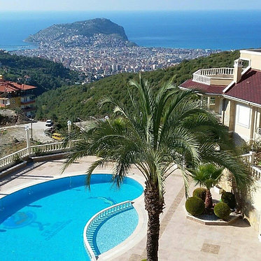 GORGEOUS 3-BEDROOM VILLA WITH MAGNIFICENT VIEWS IN BEKTAŞ/ALANYA (3+1FOR SALE)