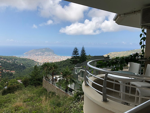 SUPER PANORAMIC 3-BEDROOM VILLA APARTMENT IN ALANYA (3+1 FOR SALE)