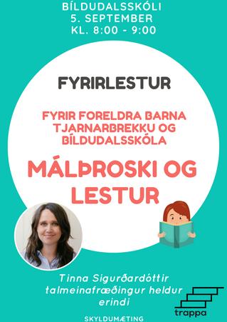 Foreldrafræðsla - Málþroski og lestur