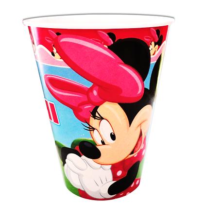 Vaso minnie rosa c/10 pzas