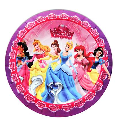 Plato princesas c/10 pzas