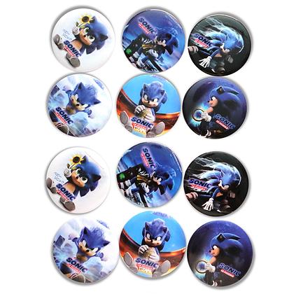 Boton metalico Sonic  c/12 pzas