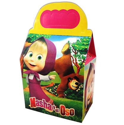 Caja masha y el oso c/10 pzas