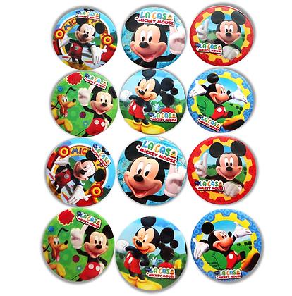 Boton metalico Mickey c/12 pzas