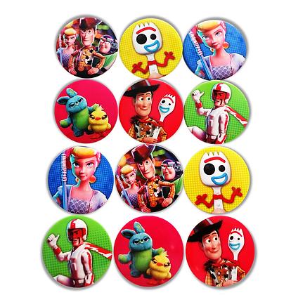 Boton metalico Toy story  c/12 pzas