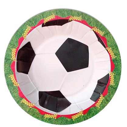 Plato Balon Futbol c/10 pzas