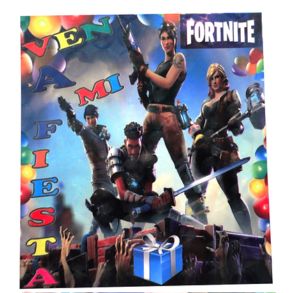 Invitacion Fortnite c/10 pzas