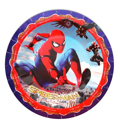 Plato spiderman c/10 pzas