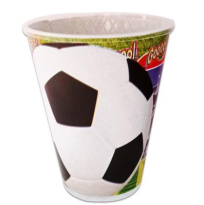 Vaso Balon de futbol c/10 pzas
