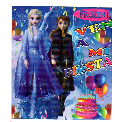 Invitacion Frozen c/10 pzas