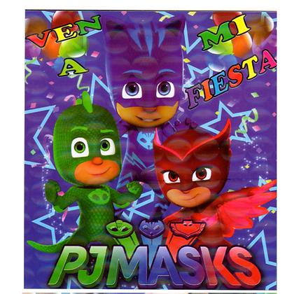 Invitacion Heroes en pijama c/10 pzas
