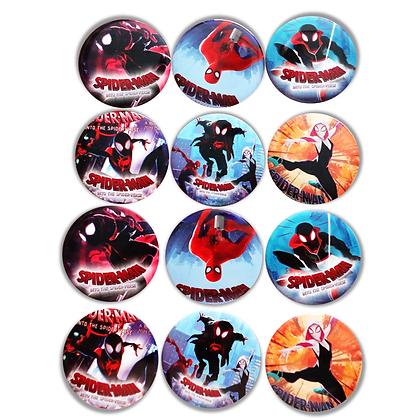 Boton metalico Spiderman  c/12 pzas