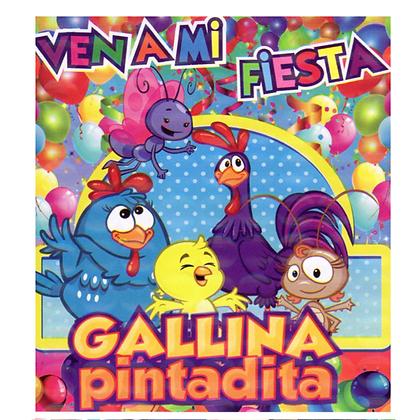 Invitacion Gallinita c/10 pzas