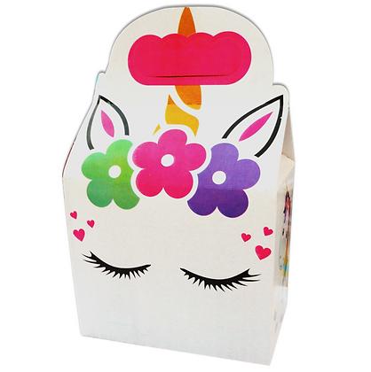 Caja unicornio c/10 pzas