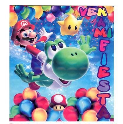 Invitacion Mario bros c/10 pzas
