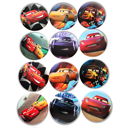 Boton metalico Cars c/12 pzas