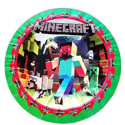 Plato Minecraft c/10 pzas