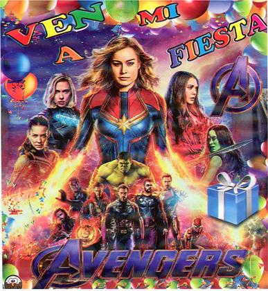 Invitacion Avengers c/10 pzas