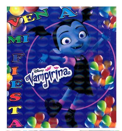 Invitacion Vampirina c/10 pzas